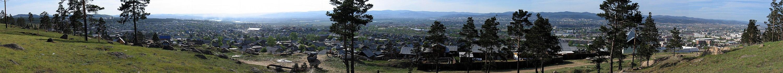 Панорама Улан-Удэ с горы на Новой Комушке