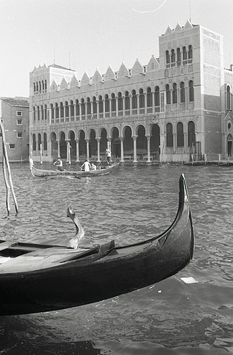 Fondaco dei Turchi - Seen from the opposite side of the Grand Canal in 1969 (photo by Paolo Monti)