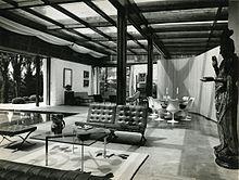 Interni di villa Agnelli a Torino (progettata dall'arch. Amedeo Albertini), fotografati da Paolo Monti nel 1961.
