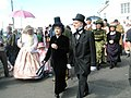 """Paraders in period dress at the start of the """"Petersfield Station 150"""" Procession - geograph.org.uk - 1250020.jpg"""
