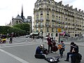Paris 75004 Pont Saint-Louis 20160516 Jazz manouche by Borsalino.jpg