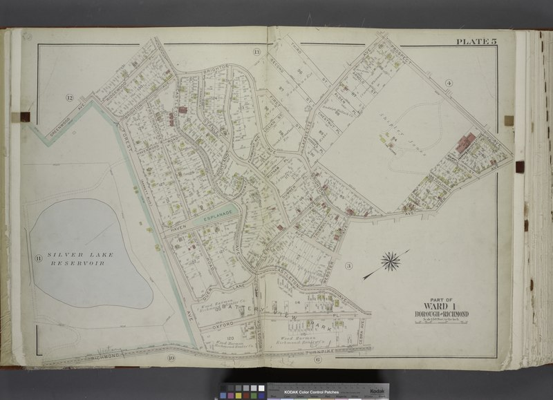 File:Part of Ward 1. (Map bound by Greenwood Ave, Ridgewood PL, Castleton Ave, Brighton Ave, Third St, La Fayette Ave, Prospect Ave, York Ave, Webster Ave, Cebra Ave, Richmond Turnpike, Silver Lake NYPL1646322.tiff