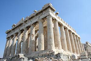 Greek New Zealanders - The Parthenon on the Acropolis of Athens.