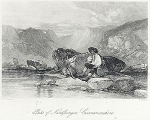 William Miller (engraver) - Nantfrangon, Carnarvonshire. Engraving by Miller c.1850