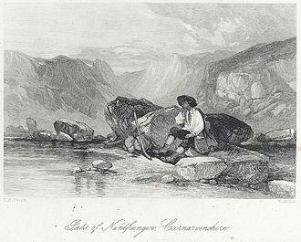 William Miller (engraver) - Nantfrangon, Carnarvonshire. Engraving by Miller c.1850