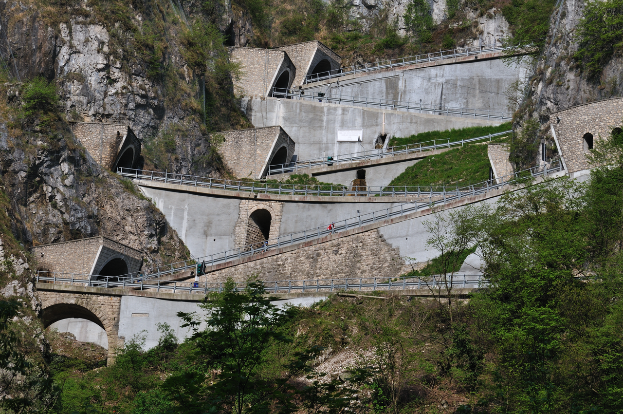 Photo: The Col du Simplon in Switzerland is a good example of a Napoleonic mountain pass.