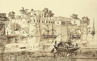 French India - French factory at Patna on the Ganges