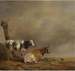 Two Cows and a Goat