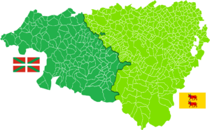 French Basque Country - French Basque Country (left side) and the Béarn (right side)