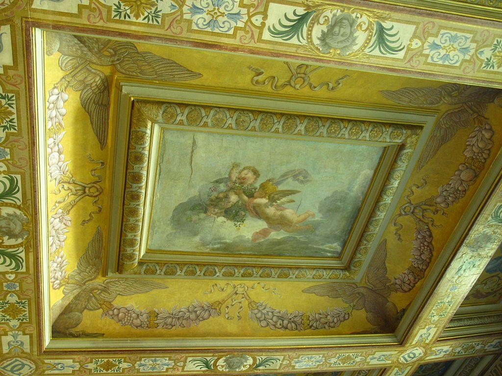 file peinture d 39 angelots au plafond du ch teau de sucy en brie jpg wikimedia commons. Black Bedroom Furniture Sets. Home Design Ideas
