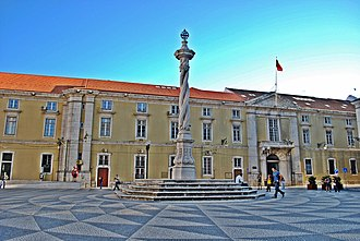 Pillory of Lisbon - Opposte the Navy Arsenal building