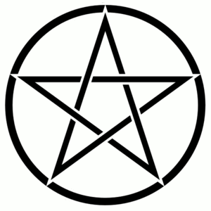 Pentacle background white