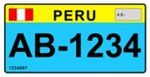 Perú large motorcycle license plate 2010.jpg