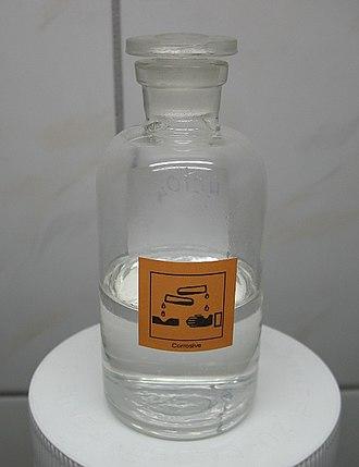 Perchloric acid - Image: Perchloric acid 60 percent