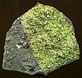 Peridotite mantle xenolith in vesicular phonotephrite (Peridot Mesa Flow, Middle Pleistocene, 580 ka; Peridot Mesa, San Carlos Volcanic Field, Arizona) 1 (14849669448).jpg