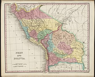 History of Bolivia (1809–1920) - Map of Peru and Bolivia in 1836