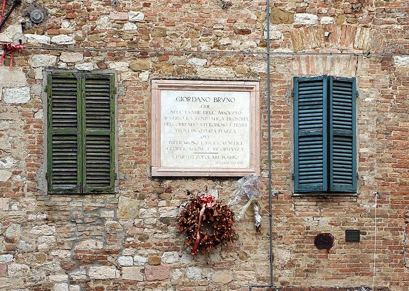File:Perugia, lapide a giordano bruno.jpg