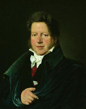 Peter Oluf Brøndsted - Portrait of Peter Oluf Brøndsted by Christian Albrecht Jensen (Ny Carlsberg Glyptotek)