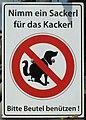 Pfaffenhofen, Hundekot-Säckchen-Schild, 1.jpeg