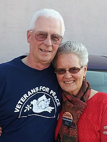 Phil Butler, returned POW and President of Veterans for Peace with wife
