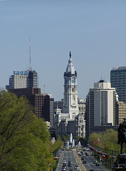 Philadelphia City Hall (from Art Museum)