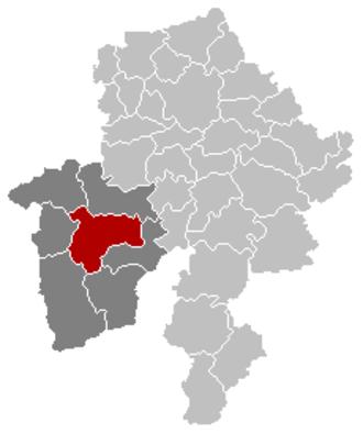 Philippeville - Image: Philippeville Namur Belgium Map