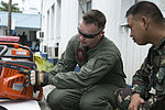 Philippine Airmen and US Marines train on aircraft crash fire rescue equipment 140506-M-UT901-129.jpg