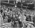 Photograph of President Truman preparing to throw out the first ball at the opening game of the 1951 baseball season... - NARA - 200292.tif