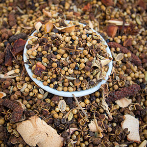 Larb - Phrik lap is the mix of dried spices used in northern Thai larb