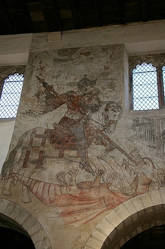 Pickering, North Yorkshire - The wall paintings in Pickering church