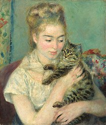 Pierre-Auguste Renoir: Woman with a Cat