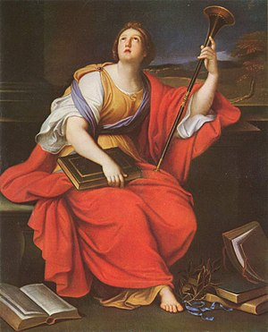 Art of Europe - Pierre Mignard, Clio, muse of heroic poetry and history, 17th century