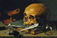 Pieter Claeszoon - Still Life with a Skull and a Writing Quill.JPG