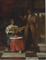 A Musical Trio in an interior