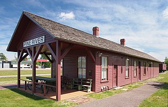 National Register of Historic Places listings in Cass County, Minnesota - Image: Pine River Depot