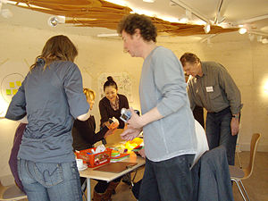 Metadesign - Team members working in a metadesign workshop organized by researchers at Goldsmiths, University of London (2008)