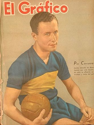 Pío Corcuera - Corcuera in 1943, when playing for Boca Juniors.
