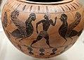 Pittore del louvre, dinos prodotta a cerveteri da arigiani ionici, con uomini, sfingi e galli, 530-520 ac ca., dalla tomba I alla banditaccia 02.jpg