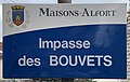 Plaque Impasse Bouvets - Maisons-Alfort (FR94) - 2021-03-22 - 1.jpg