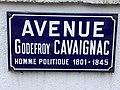 Plaque avenue Godefroy Cavaignac St Maur Fossés 2.jpg