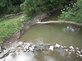 Plaster Creek river in Michigan, United States