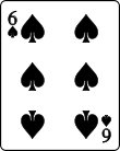 Playing card spade 6.svg