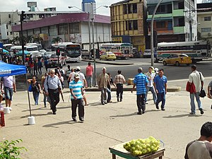 Crime in Panama - A street scene in Panama City