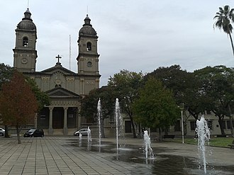 Nuestra Señora del Carmen, Salto - Church of Our Lady of Mount Carmel, seen from the Square of the Thirty-Three Orientals.