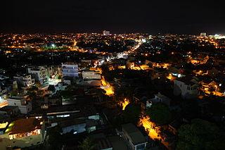 Pleiku City in Gia Lai, Vietnam
