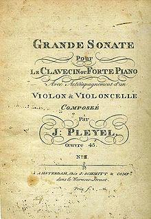 Titelblatt der Grande Sonate op. 45,3 (Druck von 1797) (Quelle: Wikimedia)