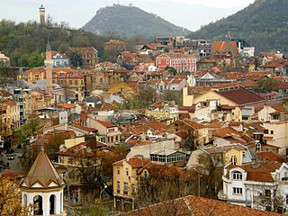 View at the Old Town of Plovdiv