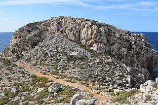 Cala Morell Settlement archaeological site in Menorca, Spain