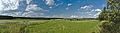 Pohled na severní část Nivy a rybníky nad vesnicí, okres Prostějov.jpg