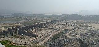 Polavaram Project dam in Polavaram, West Godavari district, Andhra Pradesh